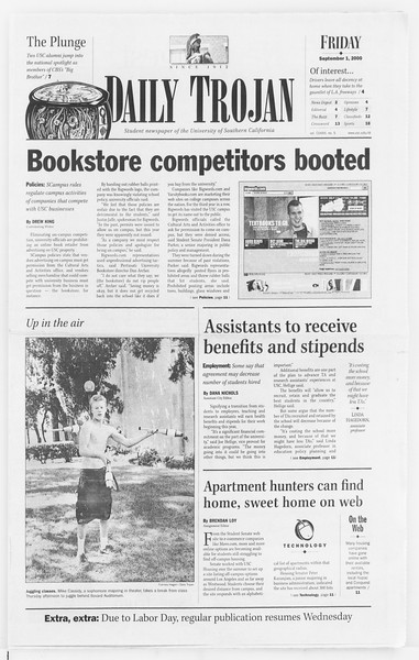 Daily Trojan, Vol. 141, No. 5, September 01, 2000