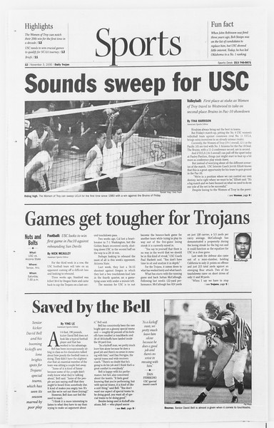 Daily Trojan, Vol. 141, No. 47, November 03, 2000