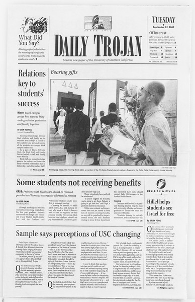 Daily Trojan, Vol. 141, No. 10, September 12, 2000