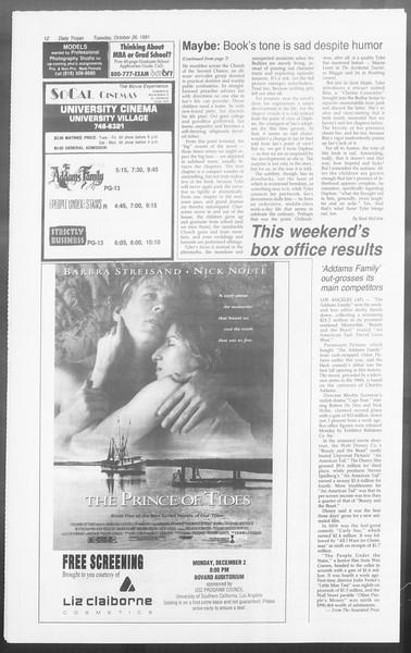 Daily Trojan, Vol. 116, No. 60, November 26, 1991