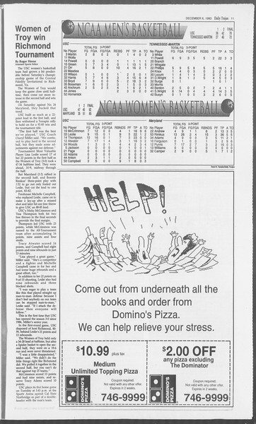 Daily Trojan, Vol. 121, No. 64, December 06, 1993