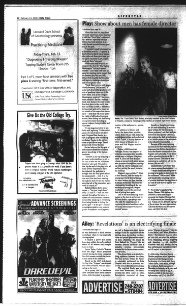 Daily Trojan, Vol. 148, No. 21, February 13, 2003