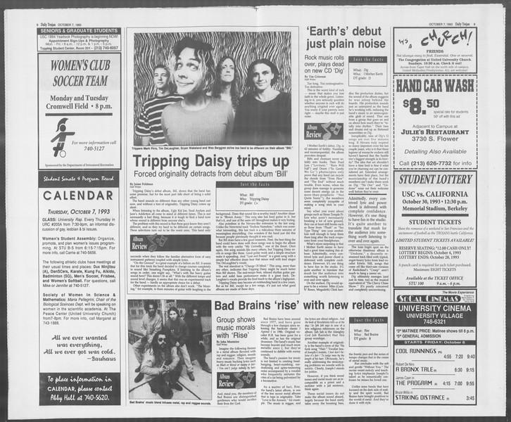 Daily Trojan, Vol. 121, No. 27, October 07, 1993