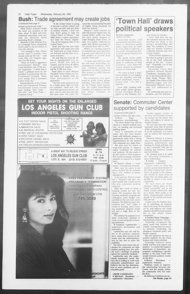 Daily Trojan, Vol. 117, No. 28, February 26, 1992