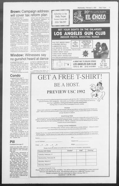 Daily Trojan, Vol. 117, No. 15, February 05, 1992