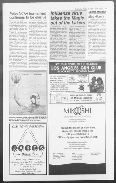 Daily Trojan, Vol. 116, No. 42, October 30, 1991
