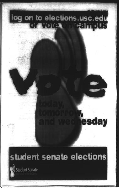 Daily Trojan, Vol. 148, No. 27, February 25, 2003