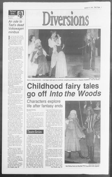 Daily Trojan, Vol. 117, No. 37, March 10, 1992