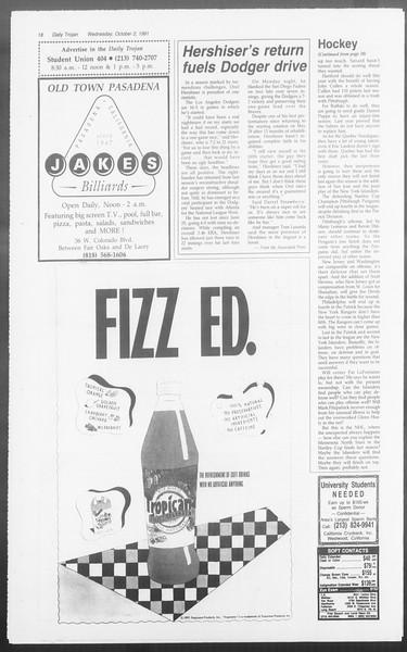 Daily Trojan, Vol. 116, No. 22, October 02, 1991