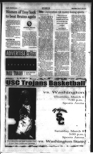 Daily Trojan, Vol. 148, No. 33, March 05, 2003