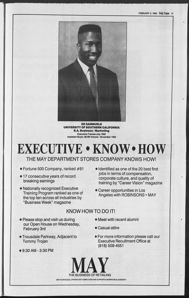 Daily Trojan, Vol. 119, No. 14, February 02, 1993