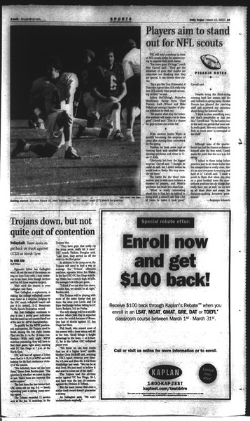Daily Trojan, Vol. 148, No. 38, March 12, 2003