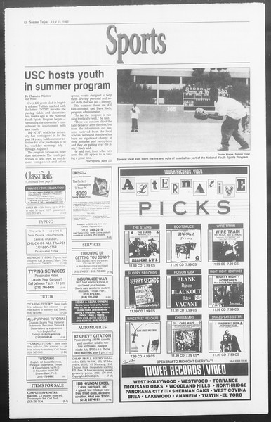 Summer Trojan, Vol. 118, No. 10, July 15, 1992
