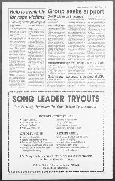Daily Trojan, Vol. 116, No. 35, October 21, 1991