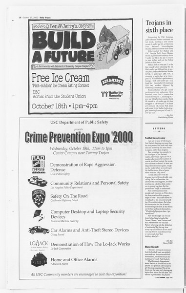 Daily Trojan, Vol. 141, No. 35, October 17, 2000
