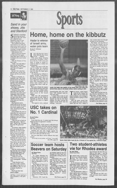 Daily Trojan, Vol. 121, No. 13, September 17, 1993