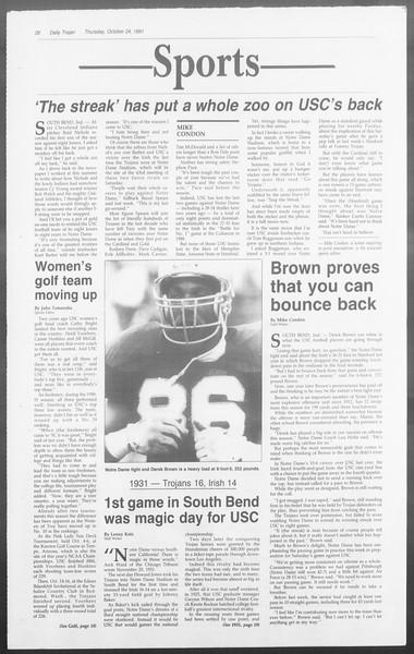 Daily Trojan, Vol. 116, No. 38, October 24, 1991