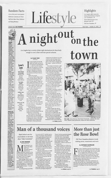Daily Trojan, Vol. 141, No. 44, October 31, 2000