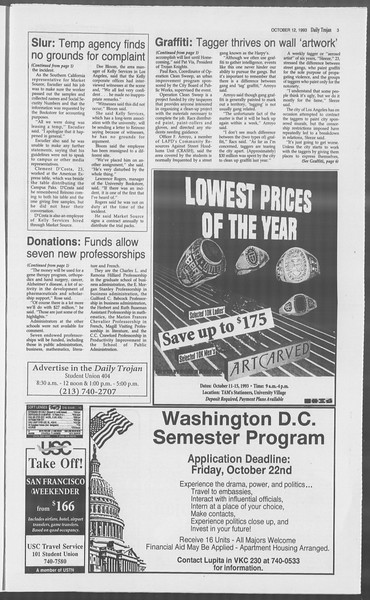 Daily Trojan, Vol. 121, No. 30, October 12, 1993