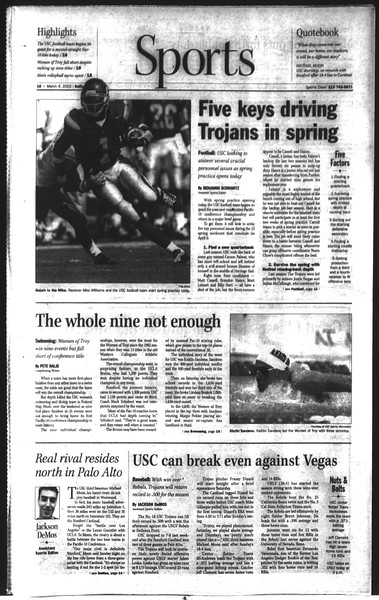 Daily Trojan, Vol. 148, No. 32, March 04, 2003