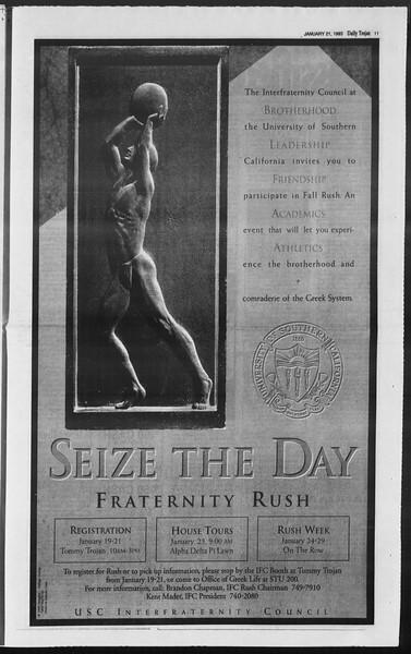 Daily Trojan, Vol. 119, No. 6, January 21, 1993