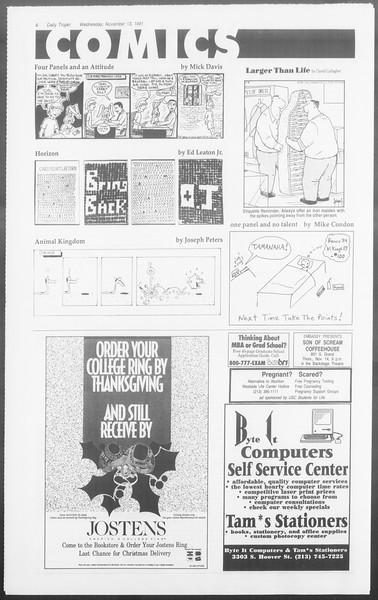 Daily Trojan, Vol. 116, No. 51, November 13, 1991