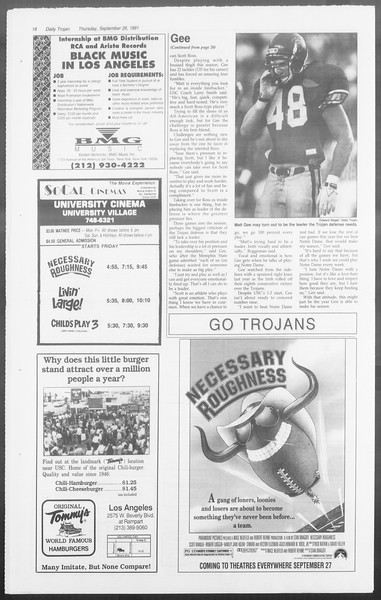 Daily Trojan, Vol. 116, No. 18, September 26, 1991