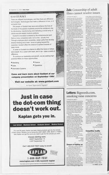 Daily Trojan, Vol. 141, No. 9, September 11, 2000