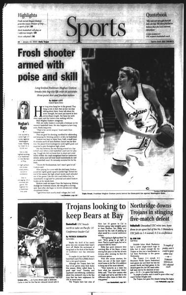 Daily Trojan, Vol. 148, No. 6, January 23, 2003