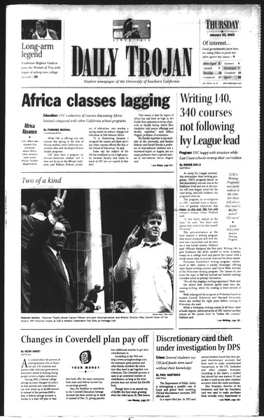Daily Trojan, Vol. 148, No. 6, January 23, 2003