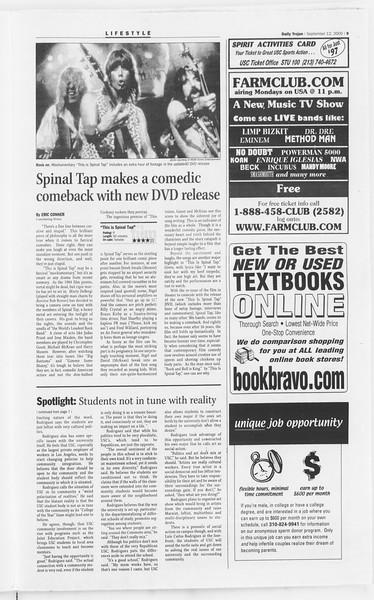 Daily Trojan, Vol. 141, No. 10, September 12, 2000