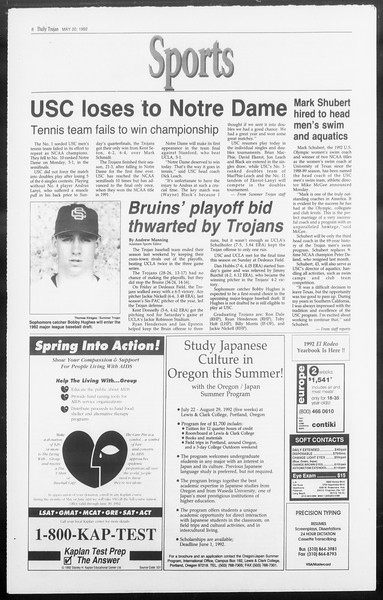 Summer Trojan, Vol. 118, No. 2, May 20, 1992