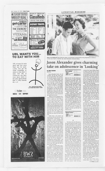 Daily Trojan, Vol. 141, No. 37, October 19, 2000