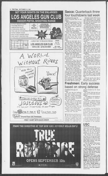 Daily Trojan, Vol. 121, No. 8, September 10, 1993