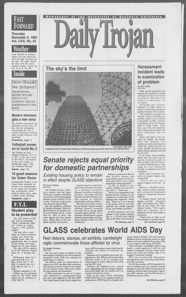 Daily Trojan, Vol. 121, No. 62, December 02, 1993