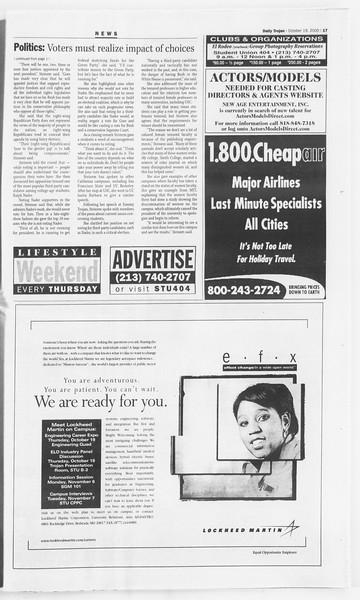 Daily Trojan, Vol. 141, No. 37, October 19, 2000