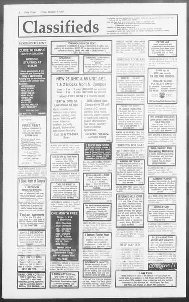 Daily Trojan, Vol. 116, No. 24, October 04, 1991