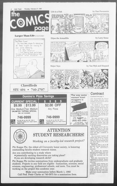 Daily Trojan, Vol. 117, No. 29, February 27, 1992