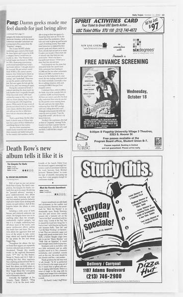 Daily Trojan, Vol. 141, No. 31, October 11, 2000