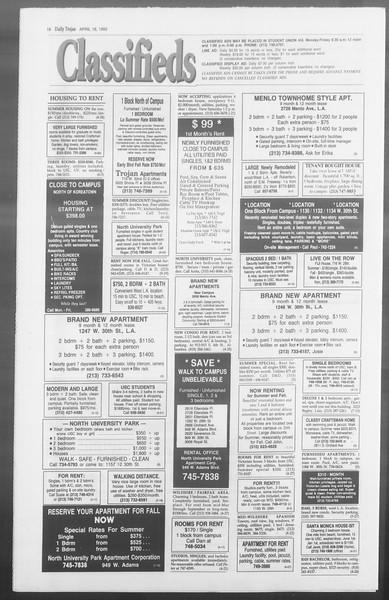 Daily Trojan, Vol. 117, No. 58, April 16, 1992