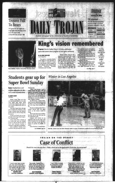 Daily Trojan, Vol. 148, No. 7, January 24, 2003