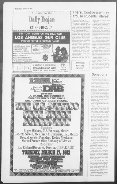 Daily Trojan, Vol. 117, No. 42, March 17, 1992