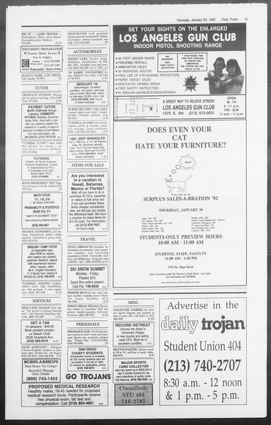 Daily Trojan, Vol. 117, No. 11, January 30, 1992