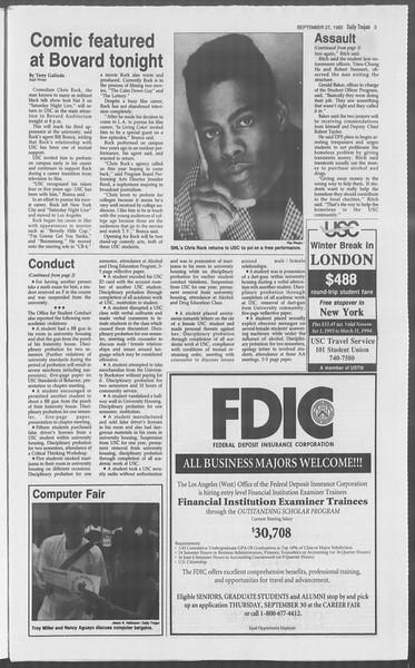 Daily Trojan, Vol. 121, No. 19, September 27, 1993