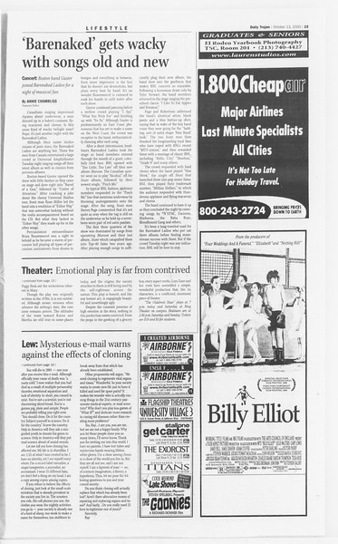 Daily Trojan, Vol. 141, No. 33, October 13, 2000
