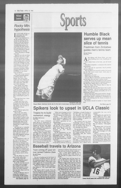 Daily Trojan, Vol. 117, No. 54, April 10, 1992
