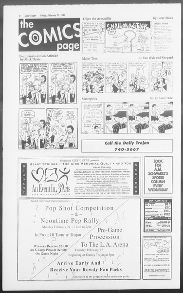 Daily Trojan, Vol. 117, No. 25, February 21, 1992
