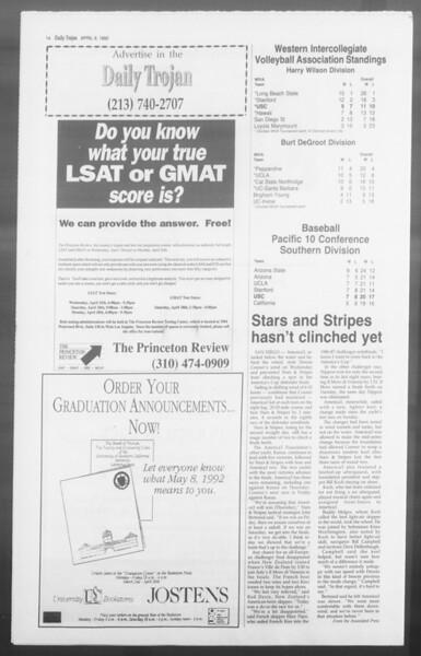 Daily Trojan, Vol. 117, No. 53, April 09, 1992