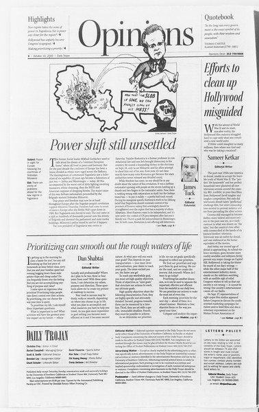 Daily Trojan, Vol. 141, No. 30, October 10, 2000