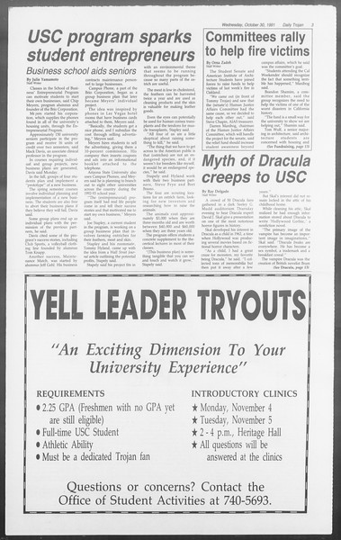 Daily Trojan, Vol. 116, No. 42, October 30, 1991